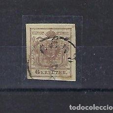 Sellos: AUSTRIA. AÑO 1858-59. FRANCISCO JOSÉ I. 6 KREUZER MARRÓN.. Lote 210973734