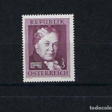 Sellos: AUSTRIA. AÑO 1966. POETISA MARÍA EBNER ESCHENBACH.. Lote 211592930