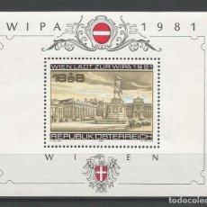 Sellos: SELLOS DE AUSTRIA AÑO 1981. HOJA BLOQUE Nº 10 CATÁLOGO YVERT NUEVA. Lote 211604562