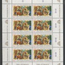 Sellos: SELLOS DE AUSTRIA AÑO 1994.HOJA SELLO Nº 1956 CATÁLOGO YVERT NUEVA. Lote 211608567