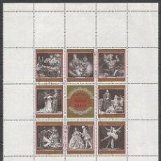 Sellos: SELLOS DE AUSTRIA AÑO 1969. HOJA BLOQUE Nº 6 CATÁLOGO YVERT USADA. Lote 211611031