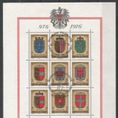 Sellos: SELLOS DE AUSTRIA AÑO 1976. HOJA BLOQUE Nº 8 CATÁLOGO YVERT USADA. Lote 211613250