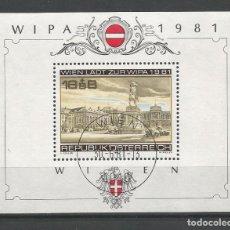 Sellos: SELLOS DE AUSTRIA AÑO 1981. HOJA BLOQUE Nº 10 CATÁLOGO YVERT USADA. Lote 211613469