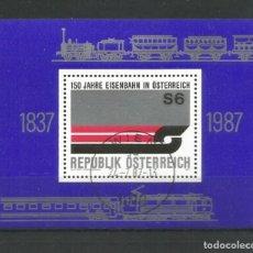 Sellos: SELLOS DE AUSTRIA AÑO 1987. HOJA BLOQUE Nº 14 CATÁLOGO YVERT USADA. Lote 211614394