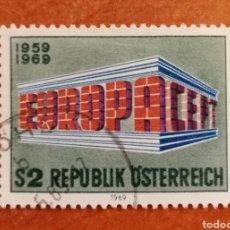 Sellos: AUSTRIA, EUROPA CEPT 1969 (FOTOGRAFÍA REAL). Lote 212628493