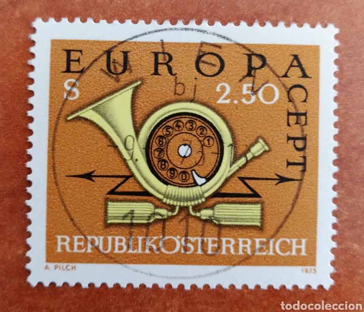 AUSTRIA, EUROPA CEPT 1973 USADO (FOTOGRAFÍA REAL) (Sellos - Extranjero - Europa - Austria)