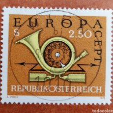 Sellos: AUSTRIA, EUROPA CEPT 1973 USADO (FOTOGRAFÍA REAL). Lote 213329137