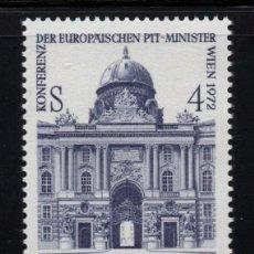 Sellos: AUSTRIA 1215** - AÑO 1972 - CONFERENCIA DE MINISTROS DE CORREOS Y COMUNICACIONES EN VIENA. Lote 226167130