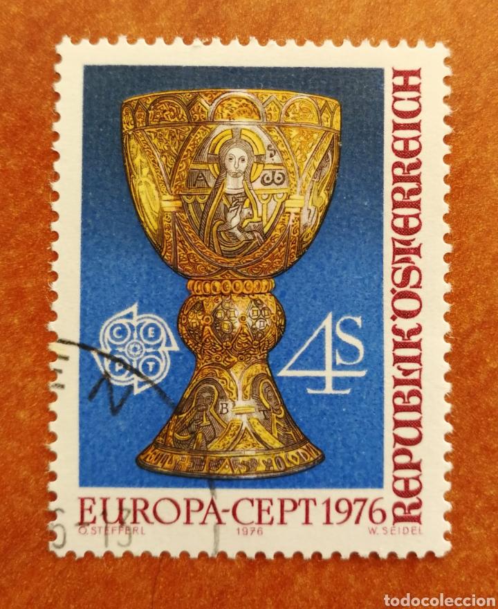 AUSTRIA, EUROPA CEPT 1976 USADO (FOTOGRAFÍA REAL) (Sellos - Extranjero - Europa - Austria)