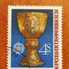 Sellos: AUSTRIA, EUROPA CEPT 1976 USADO (FOTOGRAFÍA REAL). Lote 213339147