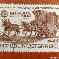 Sellos: AUSTRIA, EUROPA CEPT 1982 USADA(FOTOGRAFÍA REAL). Lote 213628088