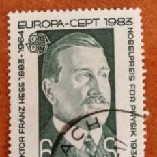 Sellos: AUSTRIA, EUROPA CEPT 1983 USADO (FOTOGRAFÍA REAL). Lote 213635917