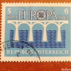 Sellos: AUSTRIA, EUROPA CEPT 1984 USADO (FOTOGRAFÍA REAL). Lote 213694317