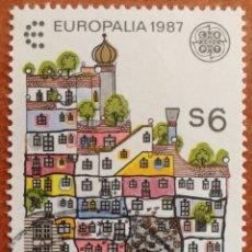 Sellos: AUSTRIA, EUROPA CEPT 1987 USADA (FOTOGRAFÍA REAL). Lote 213712552