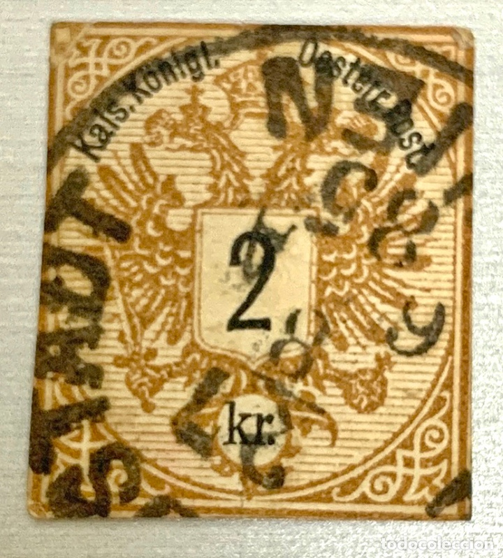 SELLO AUSTRIA 1883 MARRON 2 KR SIN DENTAR (Sellos - Extranjero - Europa - Austria)
