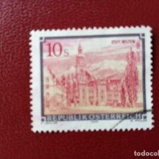 Selos: AUSTRIA - VALOR FACIAL 10 S - AÑO 1988 - ARQUITECTURA: ABADIA DE WILTEN - YV 1744. Lote 216420137
