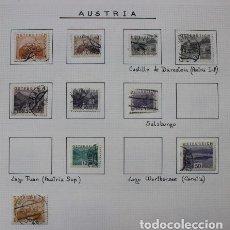 Sellos: LOTE 10 SELLOS USADOS PAISAJES DE AUSTRIA. Lote 216612297