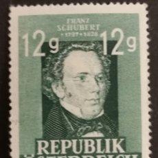 Sellos: AUSTRIA, N°665 MH. PERSONAJES 1947(FOTOGRAFÍA REAL). Lote 218130716