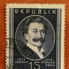 Sellos: AUSTRIA, N°783 USADO, 1949 (FOTOGRAFÍA REAL). Lote 218132965