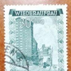 Sellos: AUSTRIA, CONSTRUCCIÓN DEL PUERTO 1948 USADO (FOTOGRAFÍA REAL). Lote 218138020