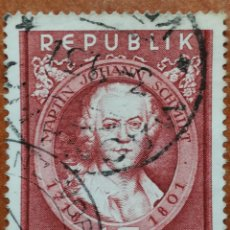 Sellos: AUSTRIA, N°799 USADO, PINTORES 1951 (FOTOGRAFÍA REAL). Lote 218138912
