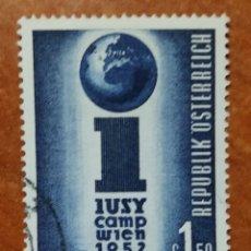 Sellos: AUSTRIA, N°814 USADO, AÑO 1952 (FOTOGRAFÍA REAL). Lote 218139340