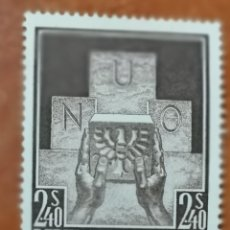 Sellos: AUSTRIA, N°858 MH, AÑO 1955 ADMISIÓN DE AUSTRIA EN LA ONU(FOTOGRAFÍA REAL). Lote 218148636