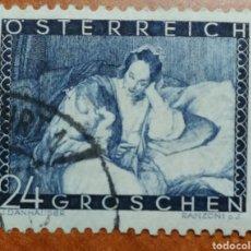 Sellos: AUSTRIA, N°466 USADO, AMOR DE MADRE E HIJO 1935 (FOTOGRAFÍA REAL). Lote 218151443
