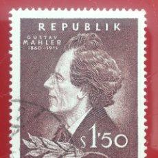 Sellos: AUSTRIA N°919 USADO, COMPOSITORES 1960 (FOTOGRAFÍA ESTÁNDAR). Lote 218291196