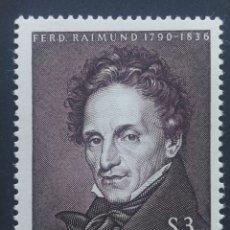 Sellos: AUSTRIA, N°1019 MNH, PERSONAJES 1965 (FOTOGRAFÍA REAL). Lote 218292681