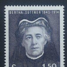Sellos: AUSTRIA N°1035 MNH, PERSONAJES 1965. Lote 218292978