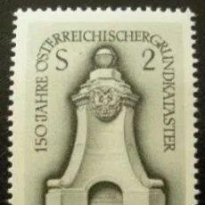 Sellos: AUSTRIA N°1085, 150°ANIVERSARIO DEL CATASTRO 1967 (FOTOGRAFÍA REAL). Lote 218353465