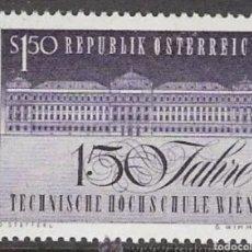 Sellos: AUSTRIA N°1033 MNH, ESCUELA SUPERIOR TÉCNICA 1965(FOTOGRAFÍA REAL). Lote 218354546