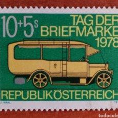 Sellos: AUSTRIA, N°1420 MNH, COCHE POSTAL 1978 (FOTOGRAFÍA REAL). Lote 218356341