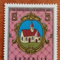 Sellos: AUSTRIA, N°1762 MNH, 1100°ANIVERSARIO DE FELDEKICHEN 1988 (FOTOGRAFÍA REAL). Lote 218359552