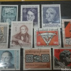 Sellos: SELLOS AUSTRIA (OSTERREICH) MTDOS/1978/LOTE DE 9 SELLOS DE AUSTRIA/PERSONAJES/FAMOSOS/ARTE/GENTE/HIS. Lote 218636470