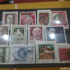 Sellos: SELLOS AUSTRIA (OSTERREICH) MTDOS/1980/LOTE DE 1 SELLOS DE AUSTRIA/PERSONAJES/FAMOSOS/ARTE/GENTE/HIS. Lote 218684953