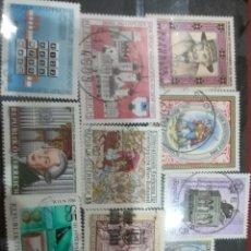 Sellos: SELLOS AUSTRIA (OSTERREICH) MTDOS/1986/LOTE 10 SELLOS DE AUSTRIA/PERSONAJES/FAMOSOS/ARTE/GENTE/HISTO. Lote 218720795