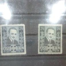 Sellos: SELLOS AUSTRIA (OSTERREICH) MTDO/+/-SEÑAL BISAGRA/SING/1933-1934/MEMORIA/DOLLFUSS/POLITICO/PESONAJES. Lote 218816940
