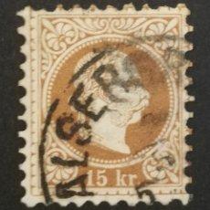 Sellos: AUSTRIA, 15KR.AÑO 1867 USADO (FOTOGRAFÍA REAL). Lote 220509216
