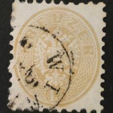 Sellos: AUSTRIA, 15KR, ESCUDO AGUILA BICEFALA 1963 USADO (FOTOGRAFÍA REAL). Lote 220518592