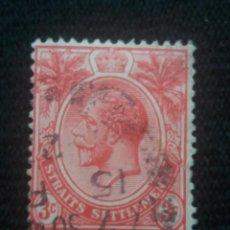 Sellos: GRAN BRETAÑA, 3C, EDUARDO VII, STRAITS SETTLEMENTS, AÑO 1906.. Lote 222706416