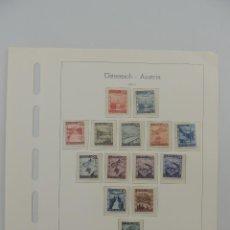 Timbres: HOJA CON SELLOS DE AUSTRIA – AÑOS 1945/47. Lote 224428950