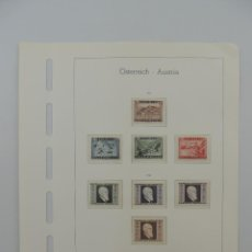 Timbres: HOJA CON SELLOS DE AUSTRIA – AÑOS 1945/46. Lote 224429090