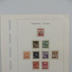 Timbres: HOJA CON SELLOS DE AUSTRIA – AÑO 1946. Lote 224429300
