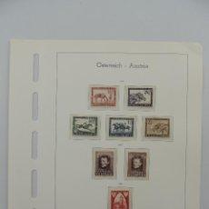 Timbres: HOJA CON SELLOS DE AUSTRIA – AÑOS 1946/47. Lote 224429610