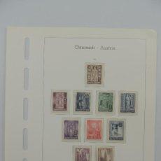 Timbres: HOJA CON SELLOS DE AUSTRIA – AÑO 1946. Lote 224429806