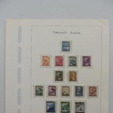 Timbres: HOJA CON SELLOS DE AUSTRIA – AÑOS 1945/47. Lote 224429955