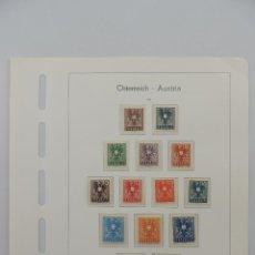 Timbres: HOJA CON SELLOS DE AUSTRIA – AÑO 1945. Lote 224430081