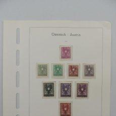 Timbres: HOJA CON SELLOS DE AUSTRIA – AÑO 1945. Lote 224430205